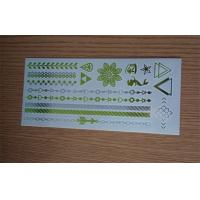 China Fashion metallic temporary adult tattoos promotion with silk screen printing wholesale