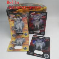China Private labels Capsule case Black Mamba 18000 / Rhino 69 9000 pill packaging 3D cards wholesale