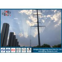 China 10-500KV Electric Power Pole Transmission Line Tubular Steel Pole Long Life wholesale