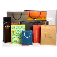 China Recyclable Customized Paper Bags Full Color Printing Kraft With Handles wholesale