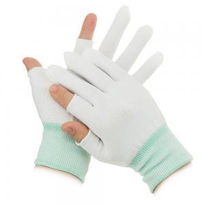 China S M L XL 10g Half Finger Palm Fit ESD Carbon Gloves wholesale