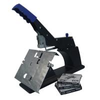 China Flat Stapler 60 Sheet Manual Saddle Stapler Black Color Clip Platform Structure wholesale