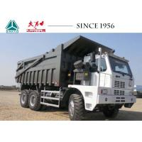China 10 Wheeler Mining Tipper Trucks , Sinotruk HOWO Dump Truck 70 Tons Payload wholesale