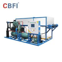 China 415V Industrial Power Supply Ice Block Machine With Water Cooling / Air Cooling wholesale