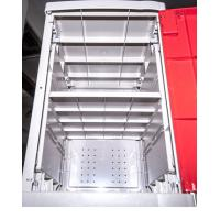 Quality Factory Keyless ABS Plastic Lockers 5 Tier Red Door Changing Room Lockers for sale