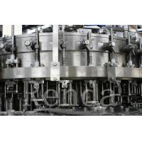 China PLC Control Glass Bottle Beer Filling Machine For Carbonated Drink / Beverage wholesale