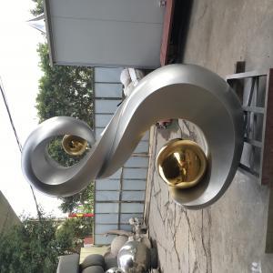 China Stone Metal Art Sculptures 304 Gray Iron Stainless Steel Decorative Garden Sculptures wholesale