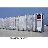 China Folding Aluminum Electric Folding Gates With Mesh Screen / Partition wholesale