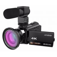 China wholesale Andoer 4K 1080P 48MP WiFi Digital Video Camera Camcorder Wide Angle Macro Lens Microphone Novatek 96660 wholesale