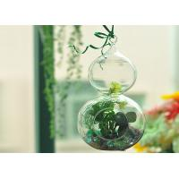 China Romantic Hanging Crystal Glass Cylinder Candle Holder Home Favor Blown wholesale