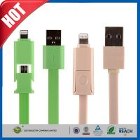 China Samsung / Iphone Cell Phone USB Cable , 2 In1 Micro Sync Data Charging Cable on sale
