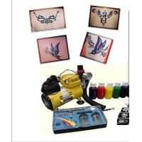 China 220-240v, 50Hz Body Art Glitter Temporary Tattoo Kit with Mini Air Compressor on sale