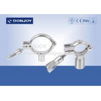 China SS304 heavy duty clamp pipe holder / tc clamp / pipe with Thread or Bar on sale
