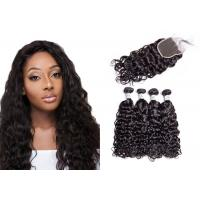 China No Tangling 8A Water Wave Hair Bundles For Black Woman Strong Adhesive Glue wholesale