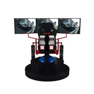 China 3 Dof Motion Simulator Car Racing Game Machine 9d Vr Electric 3 Screens on sale