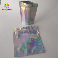 Quality Waterproof Holographic Stand Up Pouch Glossy Finished Surface Finish for sale