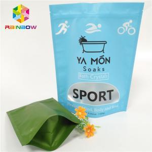 China Clear Window Matte Plastic Pouches Packaging Aluminum Foil Crystal Bath Salt Heat Sealing wholesale