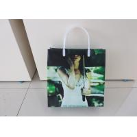 BOPP / LDPE Handle Plastic Gift Bags Packaging Recyclable With Square Bottom
