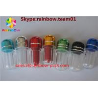 China Bullet Sex Plastic Pill Bottles , hexagon plastic pill containers penis shape wholesale