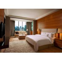 China 5 Star Hotel Bedroom Furniture King Size Wooden Material OEM Service wholesale