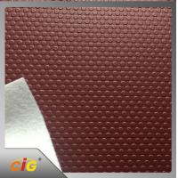 China Waterproof  pu pvc leather Small Circle Design for Auto Car Floor wholesale
