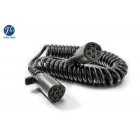 China Plastic 7 Pin Spiral Power Cord Backup Camera System Cable In Truck Trailer wholesale