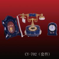 China Antique ceramic telephone (CY-702), ployresin resin corded and cordless antique telephone christmas gift OEM wholesale