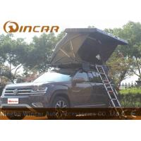 China Black Hard Shell Roof Top Tent Hardtop / Vehicle Pop Up Tents With One Side Open wholesale
