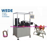 China Auto Paper Inserting Coil Winding Machine By Flat Wire PLC Control Mode on sale