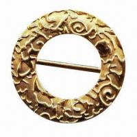 China Fashion round buckle/slider with geometrical pattern, for belt or garment wholesale