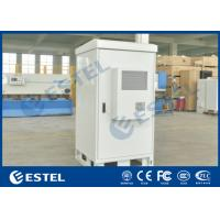 China Single Wall 40U Outdoor Telecom Cabinet Galvanized Steel Front Access Floor Mounting Type wholesale