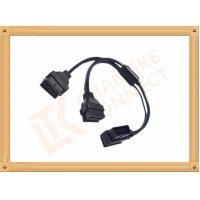 China OBD 16 Pin Automotive Extension Male To Female Cable Y Type CK-MF16Y02L wholesale