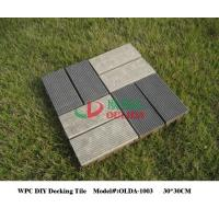 China WPC DIY Balcony Interlocking Composite Deck Tiles UV Resistance Weather Resistant wholesale