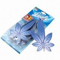 China Promotional Car Perfume Card, Available in Various Types wholesale