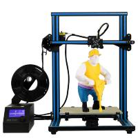 Buy cheap HICTOP 12V 3D Printer Prusa I3 Pre-assembled Aluminum Large Print Size 300x300x400mm CR-10 from wholesalers