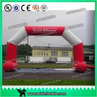 China White And Red 6 x 3M Inflatable Arch , Inflatable PVC Advertising Hotel Arch wholesale