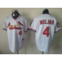 China mlb st.louis cardinals 4 Molina white Jersey wholesale