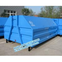 Inland factory supplied 7500 liters full sealed hooklift containers low price for sale