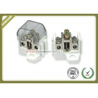 China Mechanial Strength Fiber Optic Tools White Power Distribution Blocks Connector wholesale