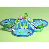 China Funny Large Inflatable Water Parks , Children Floating Playgrounds EN71-2-3 Certificate wholesale