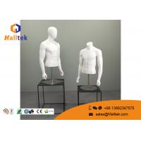 China Fiberglass Retail Shop Fittings Upper Body Male Torso Mannequin Metal Base on sale