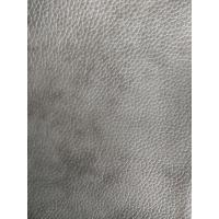 China Eco Friendly Full Grain Cow Leather Gray Synthetic Leather Fabric wholesale