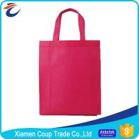 China Non Woven Fabric Shopping Bags Beautiful Red Color With Simple Design on sale