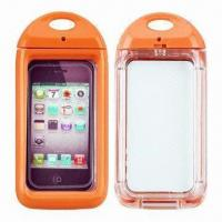 China IPX8-certified Swimming Cases for iPhone 4/4S, with 6m Depth Waterproof wholesale