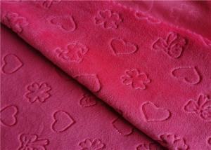 Velboa Embossed Knitting Polyester Brushed Fabric