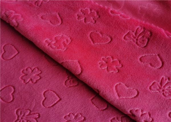 Quality Velboa Embossed Knitting Polyester Brushed Fabric for sale
