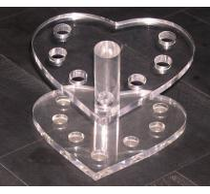 China Heart Shape Acrylic Stationery Holder ,Acrylic Pen Display Stand wholesale