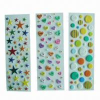 China Puffy/foam stickers, eco-friendly material, used for decoration, promotional/advertisement wholesale