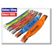 China Soft Polyester Lifting Slings Crane Rigging Straps With Eye Protector wholesale