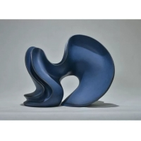China Blue Custom Resin Sculpture Matte Abstract Form Sculpture Club Exhibition Decoration wholesale
